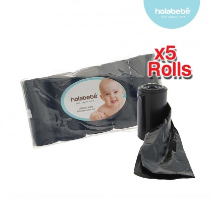 Holabebe Disposable Plastic Bag Refill (5 Rolls)