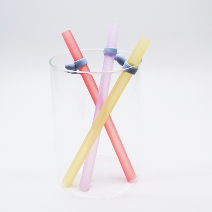 Silicon Straws & Brush Suit (Random Colour)