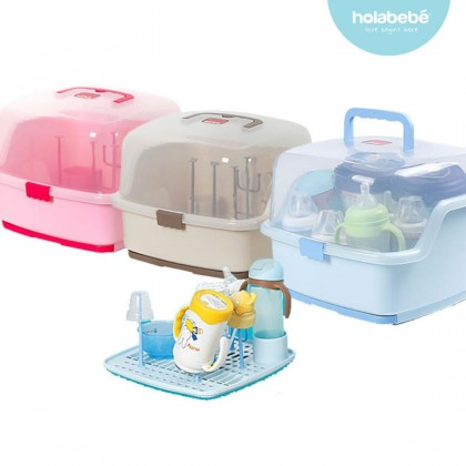 Milk Bottle Storage Box Portable Baby Bottle Drying Racks & Tray Container Kotak Susu Botol Bayi