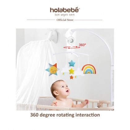 Musical Mobile Toys For Baby Crib and Playpen - Cloud